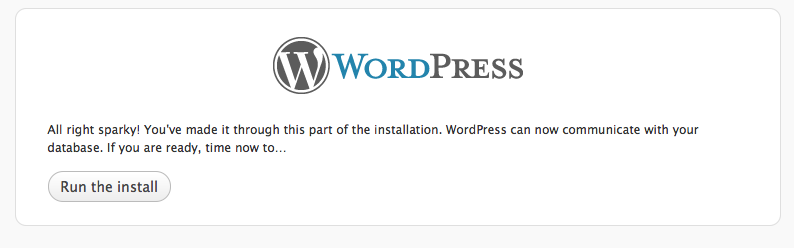 install worpress step 4