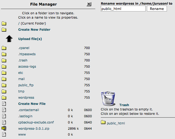 file manager rename folder input file name